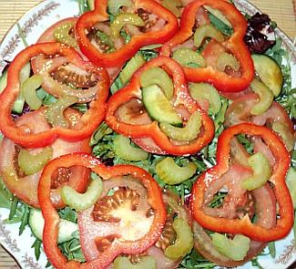 Рецепт Овощной салат с соевым соусом