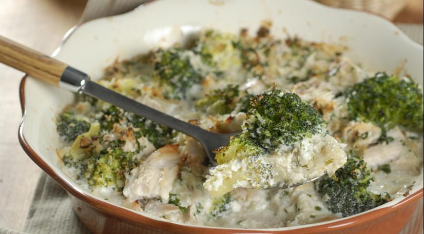 Рецепт Куриная запеканка с брокколи