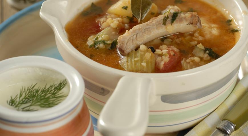 Рецепт Суп из баранины с чечевицей