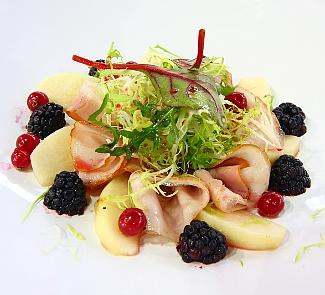 Рецепт Десерт из ветчины, груш и лесных ягод