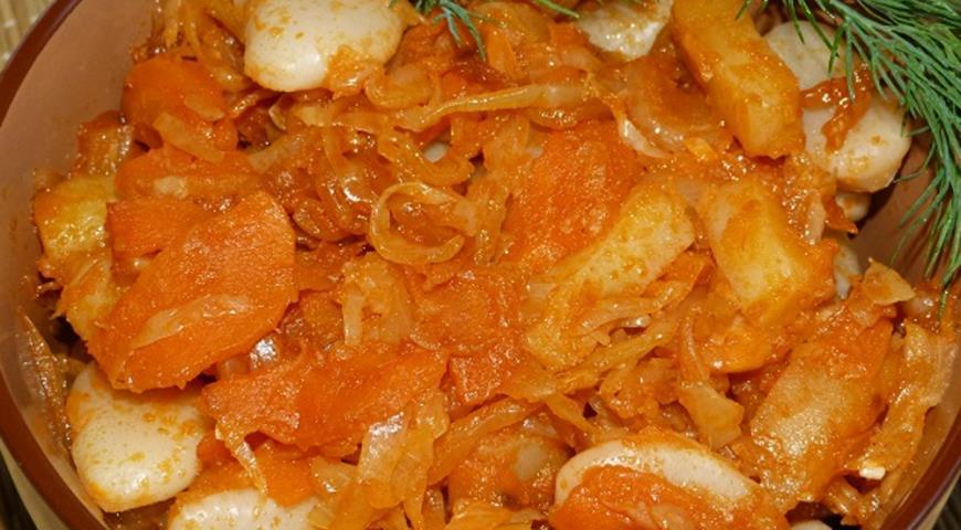 Курица в духовке с картошкой и капустой рецепт пошагово