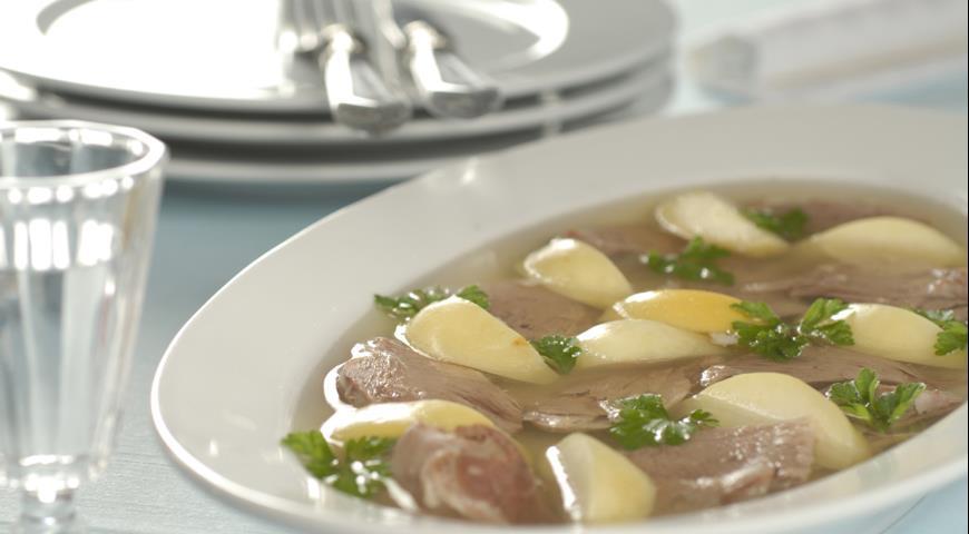 Рецепт Заливное из утки с яблоками