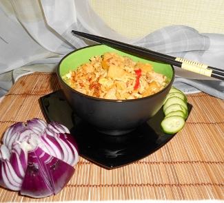 Рецепт Кау Пад Му (жареный рис со свининой)