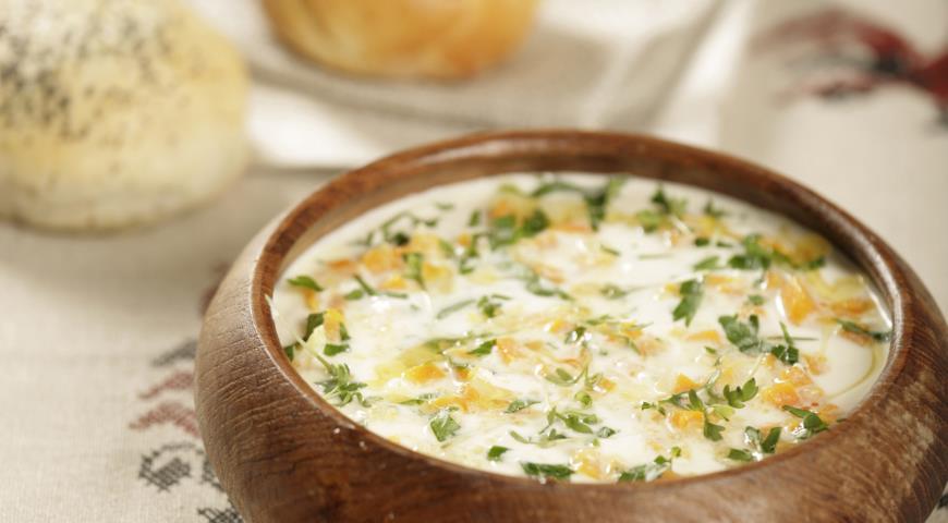 Рецепт Сырный суп со сладким перцем