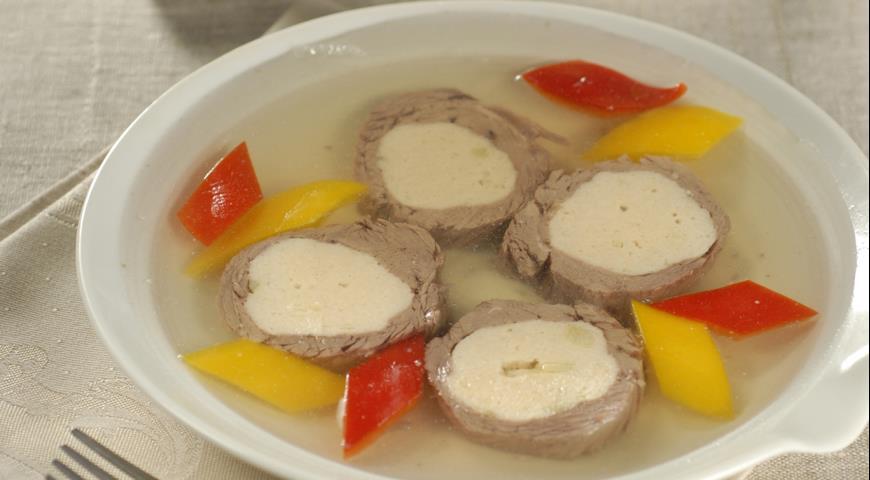 Рецепт Холодец с куриными медальонами