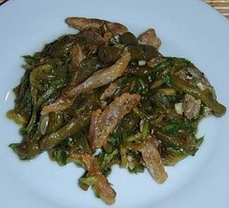 Рецепт Теплый салат из стручковой фасоли