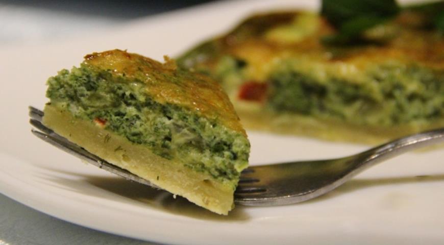 Рецепт Киш со шпинатом и сладким перцем