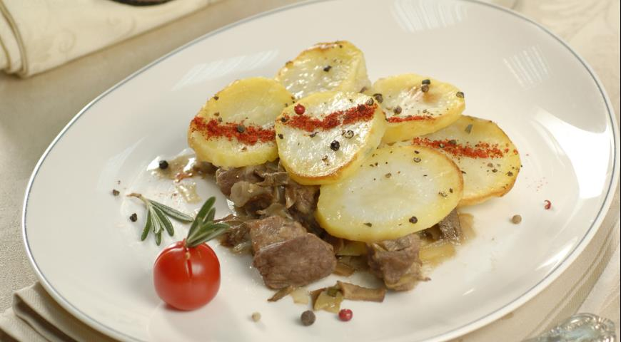 Рецепт Баранина под картофельной крышкой