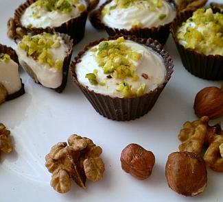 Рецепт Шоколадные корзиночки Сладкая душа