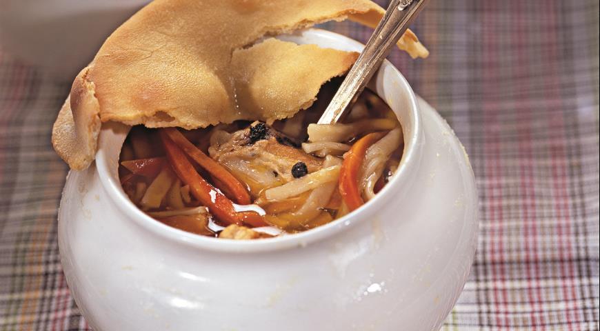 Рецепт Курица по-двински в горшочке
