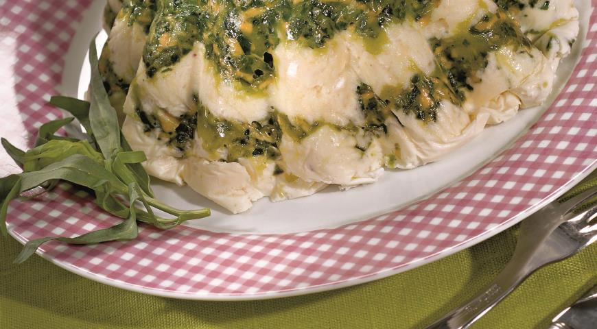 Рецепт Террин из сыра со шпинатом