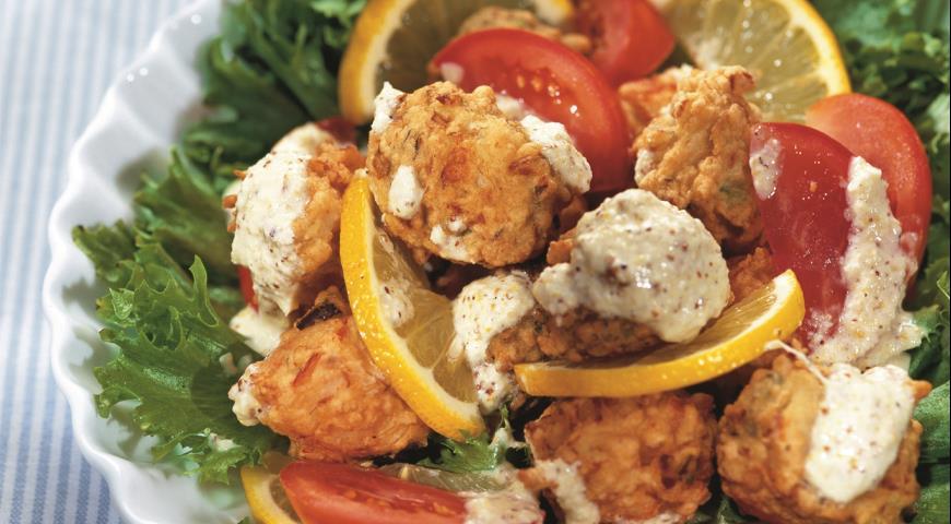 Рецепт Салат с фрикадельками по-антильски