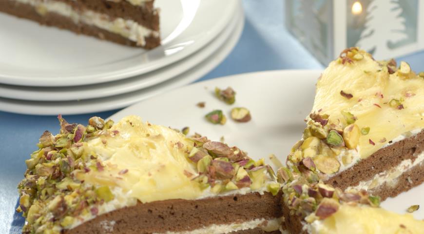 Рецепт Ананасовый торт Подсолнух