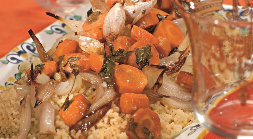 Рецепт Кускус с запеченной морковью