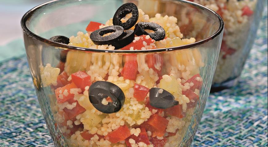 Рецепт Овощной салат с кускусом
