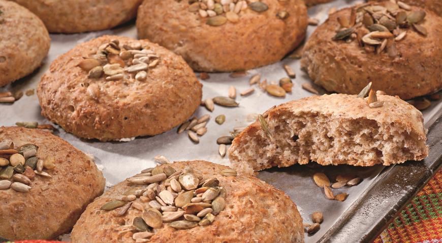 Рецепт Овсяные булочки с семечками
