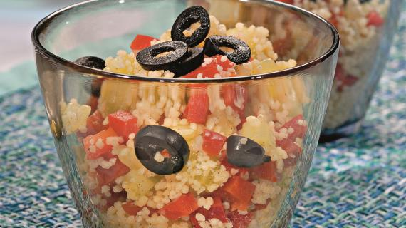 Овощной салат с кускусом, пошаговый рецепт с фото