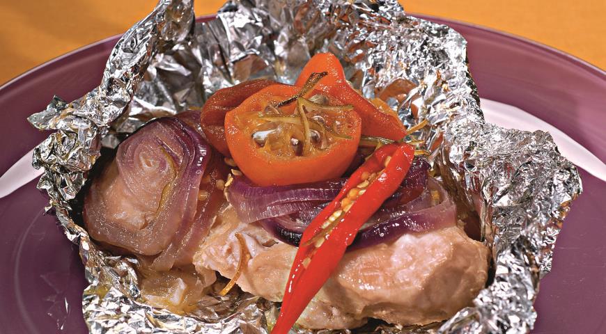 Рецепт Куриное филе в фольге