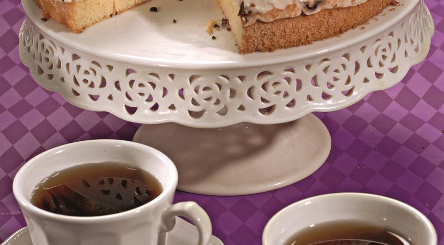 Рецепт Сметанно-творожный торт с черносливом