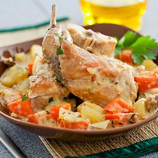 Рецепт Кролик по-средиземноморски в мультиварке
