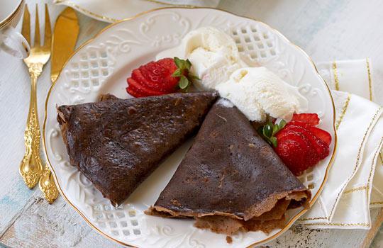 Рецепт приготовления блинов шоколадных