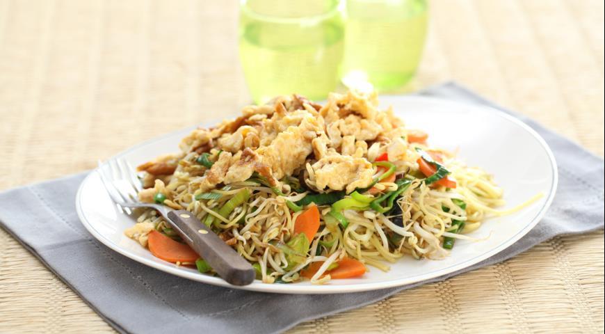 Рецепт Лапша с омлетом по-китайски