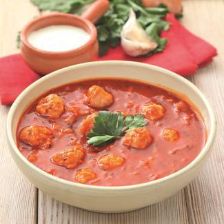 суп с фрикадельками рецепт с томатным соком