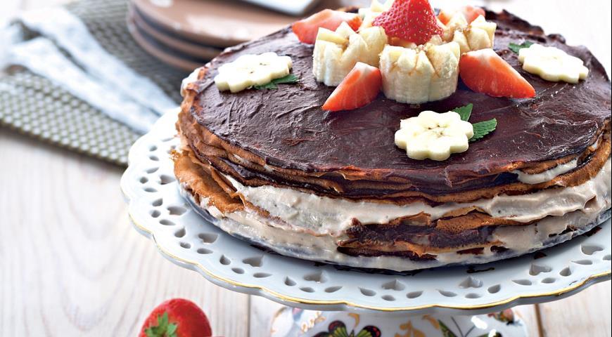 Рецепт Банановый блинчатый торт