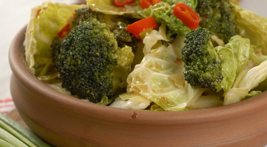 Рецепт Гарнир из двух видов капусты