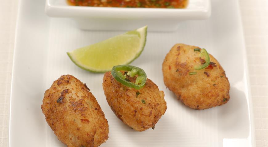Рецепт Рыбные котлеты с соусом чили
