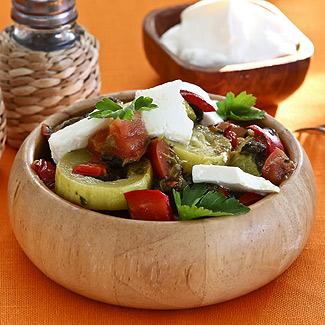 Рецепт Кабачки по-гречески в мультиварке