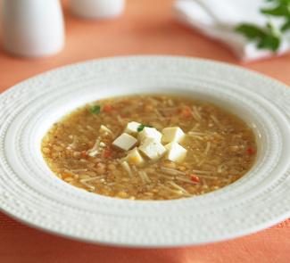 Рецепт Красный куриный суп с фетой или брынзой