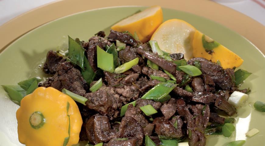 Рецепт Жаркое из говяжьих почек и куриной печенки