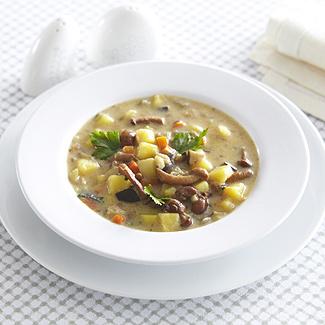 Рецепт Суп из баклажанов с грибами в мультиварке