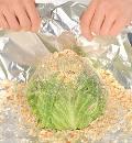 Молодая капуста, фаршированная мясом. Шаг 6