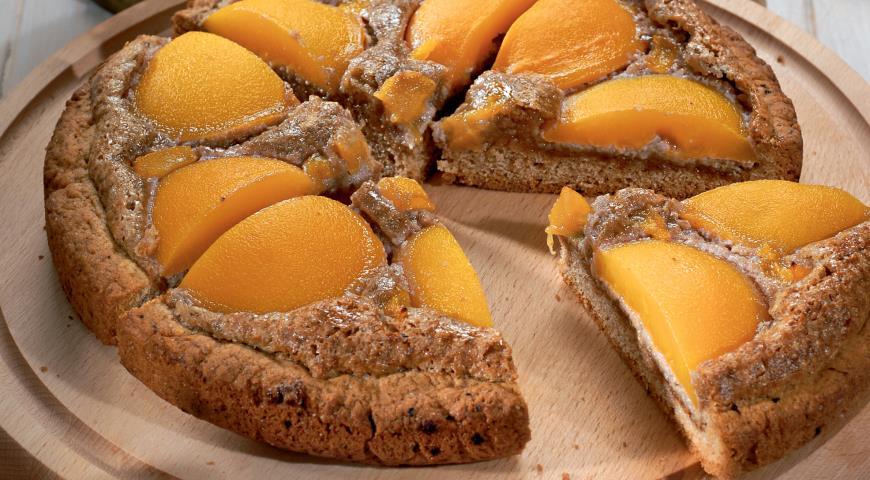 Рецепт Ореховый пирог с абрикосами