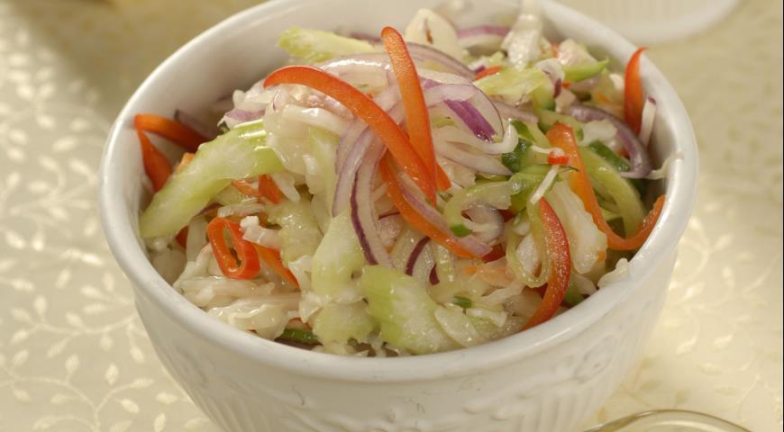 Рецепт Пряный овощной салат