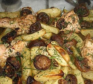 Жаркое из курицы с картошкой пошаговый рецепт 12