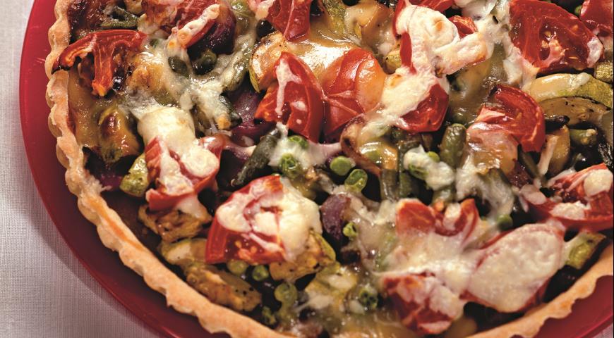 Рецепт Киш с овощами и брынзой