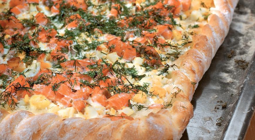 Рецепт Пирог с лососем