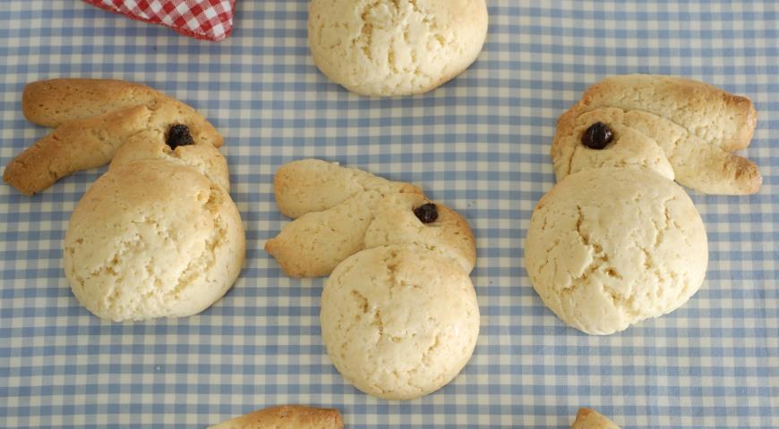 Рецепт Пасхальное печенье Кролики