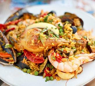 Рецепт Паэлья с морепродуктами и курочкой