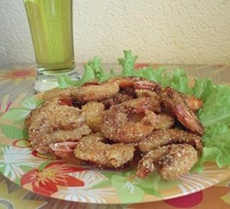 Рецепт Креветки в панировке