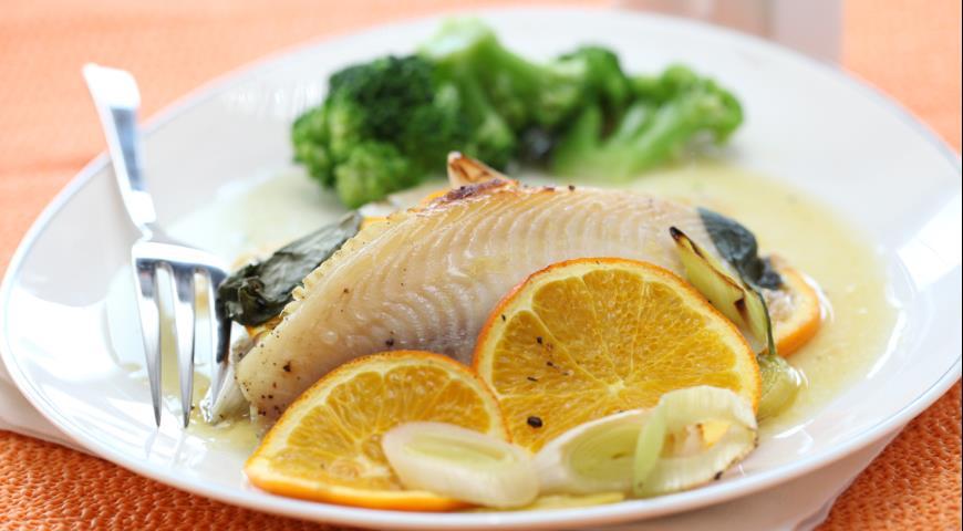 Рецепт Рыба, запеченная в пергаменте