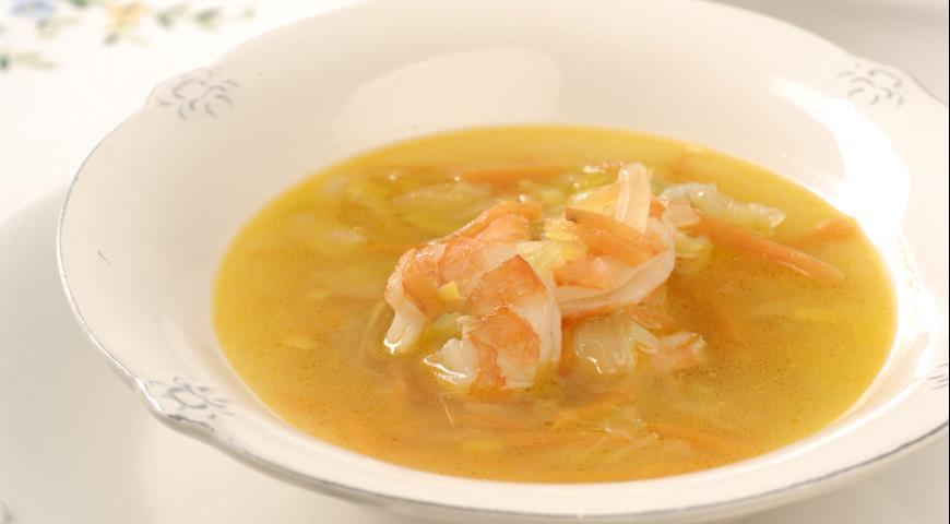 Рецепт Суп с креветками и Снежной заправкой