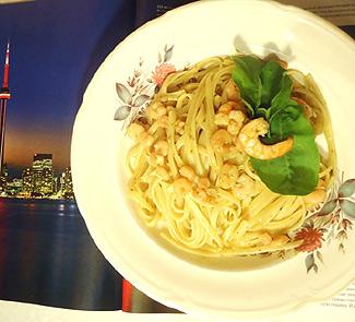 Рецепт Паста с креветками и соусом песто Удачный улов