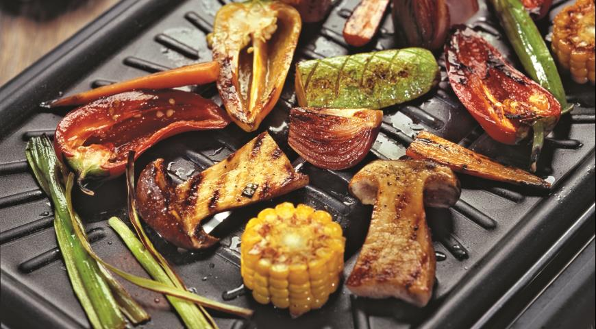 Рецепт Белые грибы и овощи-гриль