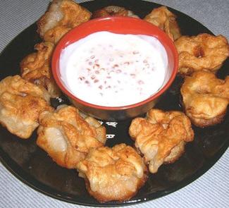 Рецепт Второе блюдо Цветочки с креветками