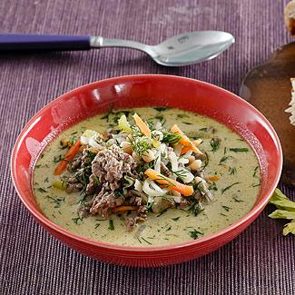 Рецепт Зеленый суп с мясным фаршем в мультиварке