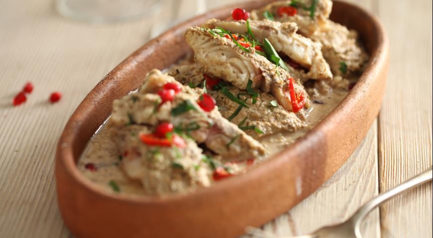 Рецепт Рыба под соусом бажи